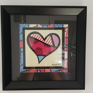 Framed Britto heart pic
